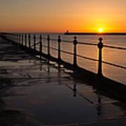 Tynemouth Pier Sunrise Poster