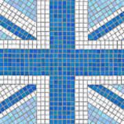 Union Jack Blue Poster by Jane Rix