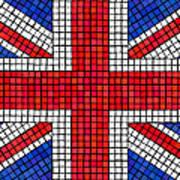 Union Jack Mosaic Poster by Jane Rix