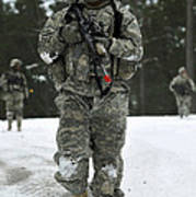 U.s. Army Soldier Conducts A Dismounted Poster