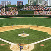 Usa, Illinois, Chicago, Cubs, Baseball Poster