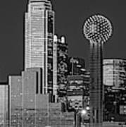 Usa, Texas, Dallas, Panoramic View Poster