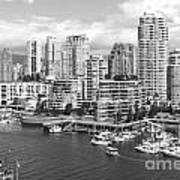 Vancouver Bc Downtown Skyline At False Creek Canada Poster