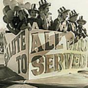 Veteran's Day Parade University Of Arizona Tucson Arizona Black And White Toned Poster