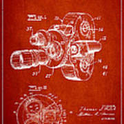 Vintage Camera Patent Drawing From 1938 Poster