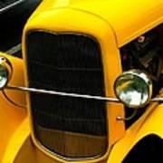 Vintage Car Yellow Detail Poster