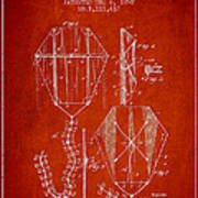 Vintage Folding Kite Patent From 1892 Poster by Aged Pixel