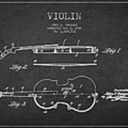 Vintage Violin Patent Drawing From 1928 Poster