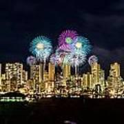 Waikiki Fireworks Celebration 11 Poster