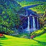 Waimea Falls L  Poster