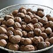 Walnuts In A Basket Poster
