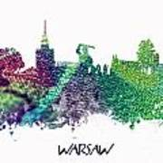 Warsaw City Skyline Poster