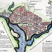 Washington, Dc, Plan, 1792 Poster