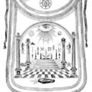 Washington Masonic Apron Poster