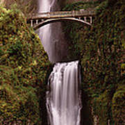 Waterfall In A Forest, Multnomah Falls Poster