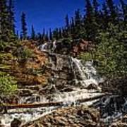 Waterfall In Jasper 1 Poster