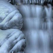 Waterfall Near Johnston Canyon Alberta Poster