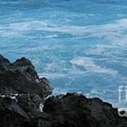 Wave - Vague - Ile De La Reunion - Reunion Island Poster by Francoise Leandre