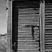 Weathered Door With Hanging Chain Poster
