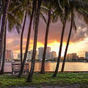 West Palm Beach Skyline Poster