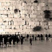 Western Wall Photopaint One Poster