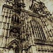 Westminster Abbey London Vintage Poster