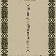 White Written In Ogham Poster