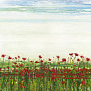 Wild Poppies Corbridge Poster by Mike   Bell