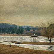 Willow Lake  Poster by Kathy Jennings