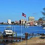 Wilmington Waterfront Skyline Poster