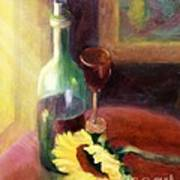 Wine And Sunflower Poster