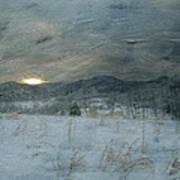 Winter Scene  Poster by Kathy Jennings