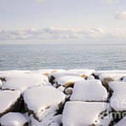 Winter Shore Of Lake Ontario Poster by Elena Elisseeva
