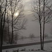 Winter Sunset In Kedron Valley II Poster