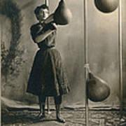 Woman Boxing Workout Poster