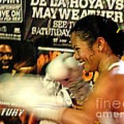 Woman's Boxing Champion Filipino American Ana Julaton Poster by Jim Fitzpatrick