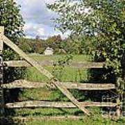 Wooden Gate Sussex Uk Poster
