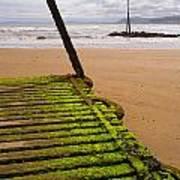 Wooden Slipway Rhos On Sea Poster