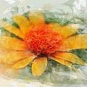 Woodland Sunflower Poster