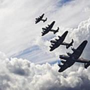 World War Two British Vintage Flight Formation Poster by Matthew Gibson