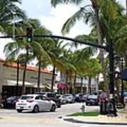 Worth Ave Palm Beach Fl Facing West Poster
