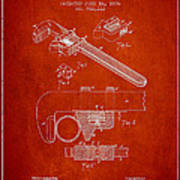 Wrench Patent Drawing From 1896 Poster by Aged Pixel