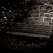Ye Olde Bench In Bakewell Town Peak District - England Poster