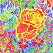 Yellow Rose Bouquet Poster
