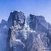 Yosemite Stone And Snow Poster