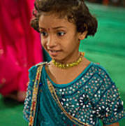 Young Dancer At The Navratri Festival Poster