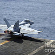An Fa-18f Super Hornet Launches Poster