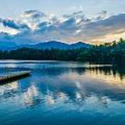 Lake Santeetlah In Great Smoky Mountains North Carolina Poster