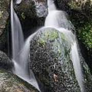 Landscape Of Becky Falls Waterfall In Dartmoor National Park Eng Poster