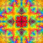 Rainbow Light Mandala Poster